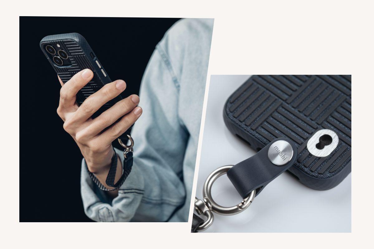 Fixez la dragonne pour garder la main sur votre téléphone pendant vos trajets, puis retirez-la et glissez votre téléphone dans votre poche quand il est temps d'aller à la salle de sport.