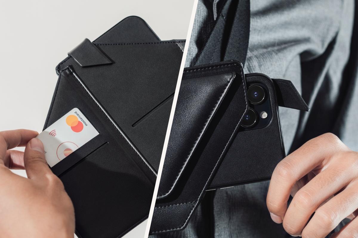 El sistema de imanes incorporado te permite meter y sacar fácilmente tu teléfono y otros objetos de la funda de bolso cruzado para teléfono con una sola mano.
