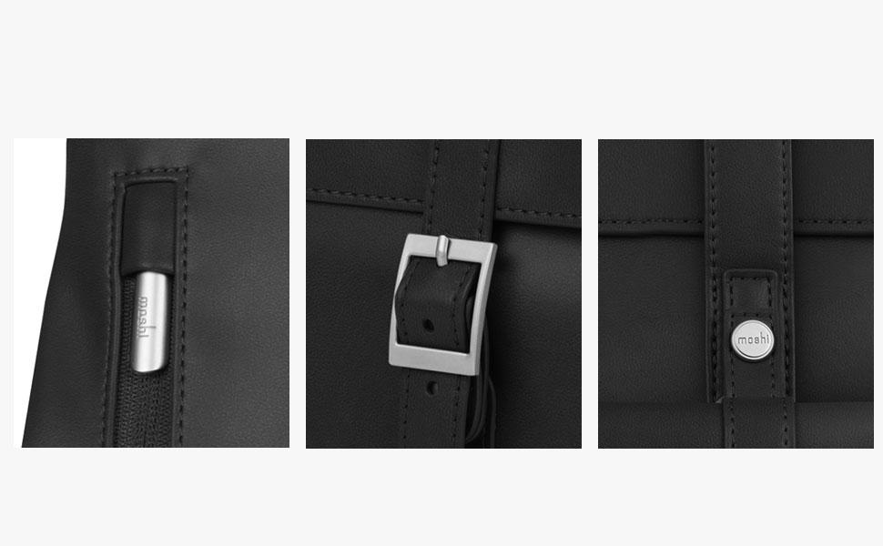 锌合金扣环和拉链,增添了风格和耐久性。