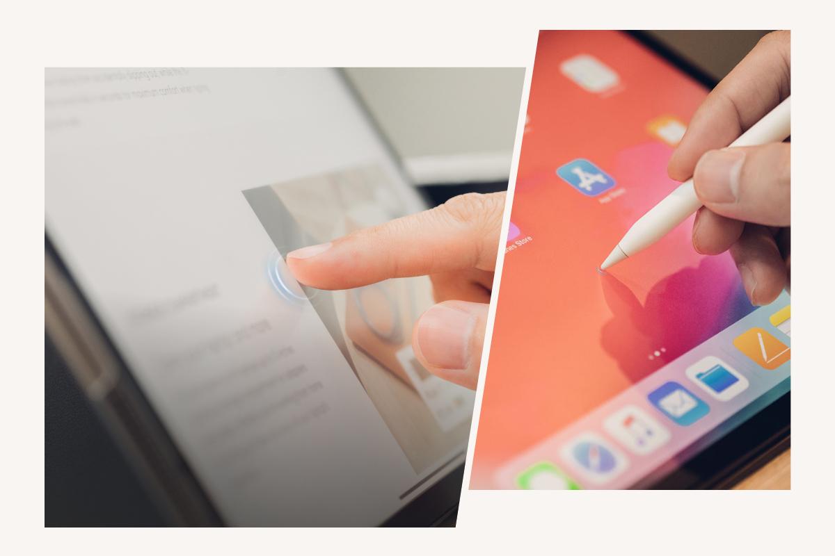 EZ-Glide™ Behandlung verbessert die Leistung des Apple Pencil und die Manövrierfähigkeit des Touchscreens.