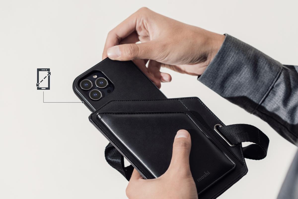 Gracias a su diseño universal, lleva y accede rápidamente a casi cualquier teléfono con facilidad. Se adapta a cualquier teléfono de 13,1 a 16,6 cm (5,2 a 6,5 pulgadas).