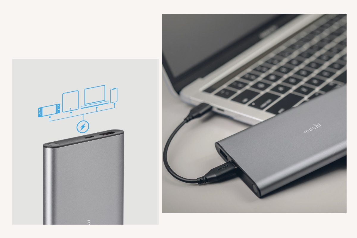 Supports USB-C Power Delivery (PD) for fast-charging up to 30 W. Can even be used to provide emergency power to a Macbook, Surface, or other laptop over USB-C.