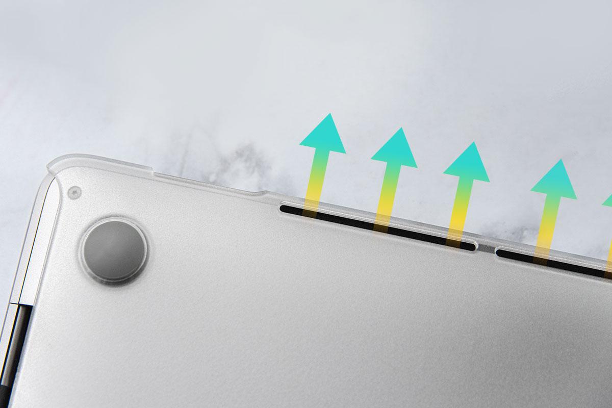 Para una mejor circulación del aire y disipación del calor.