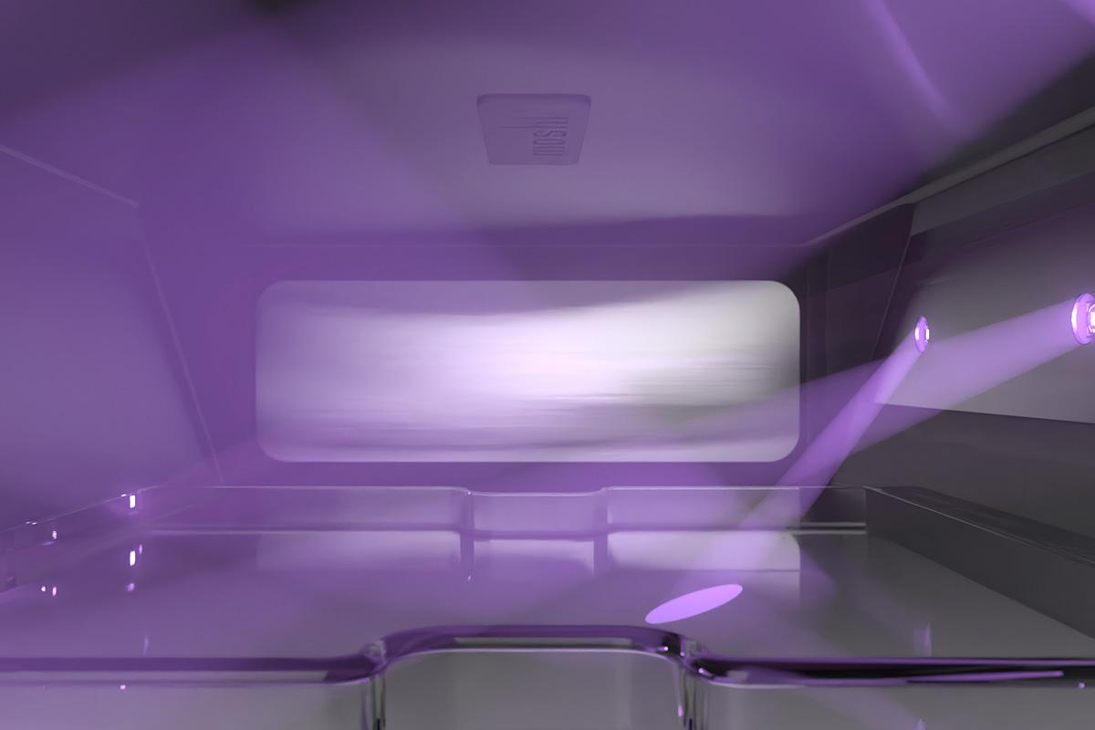 UV-C-Licht ist eine sichere, effektive und chemikalienfreie Methode zur Neutralisierung potentieller Kontaminationsquellen. Im Gegensatz zu herkömmlichen UV-C-Lampen sind die LEDs, die in Deep Purple™ verwendet werden, langlebig, werden sofort aktiviert, sind quecksilberfrei und verlieren im Laufe der Zeit nicht an Leuchtkraft. Sie bekommen mehr als 10 Jahre täglichen Gebrauch mit Deep Purple™, der auch durch unsere 10-jährige globale Garantie abgesichert ist.