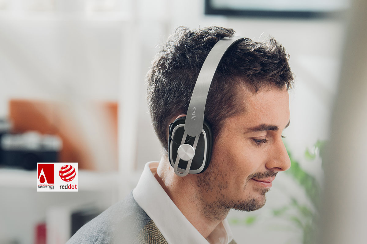Avanti Air's curved headband is ergonomically engineered to position the soft, adjustable earcups at the perfect angle of 14 degrees to form a perfect, noise-isolating seal while exerting minimal pressure on your ears. Soft and breathable leatherette gives a luxurious feel on your head and ears, while lightweight stainless steel won't weigh you down. Enjoy your favorite tracks for hours without fatigue.