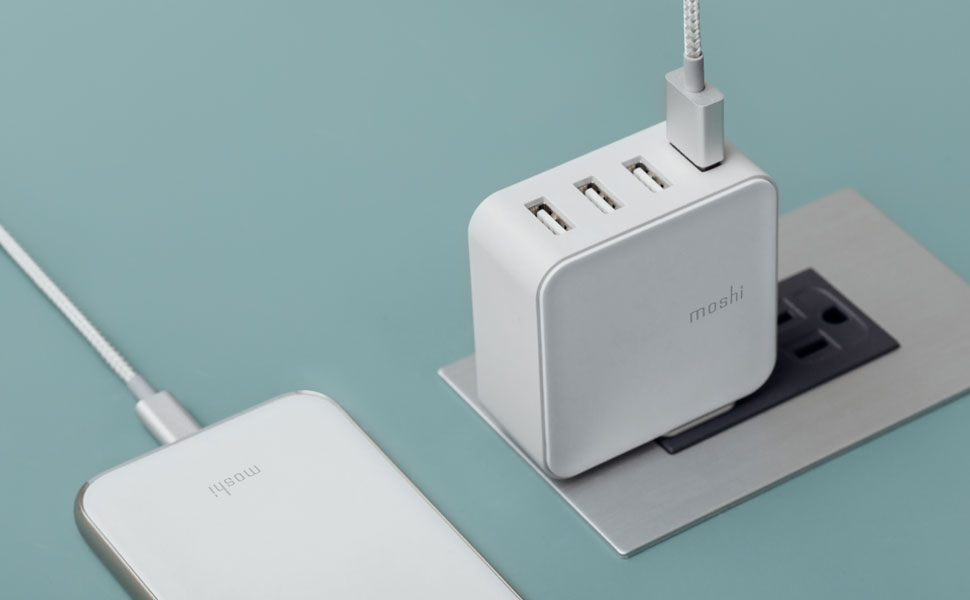 Chargement rapide intelligent grâce au circuit de partage dynamique de Moshi