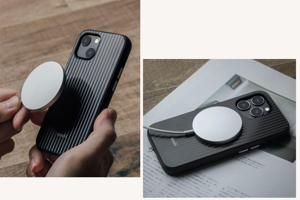 支援 MagSafe 的效率高效无线充电,不阻碍 MagSafe 的磁力自动吸附,顺利开启高效无线充电!
