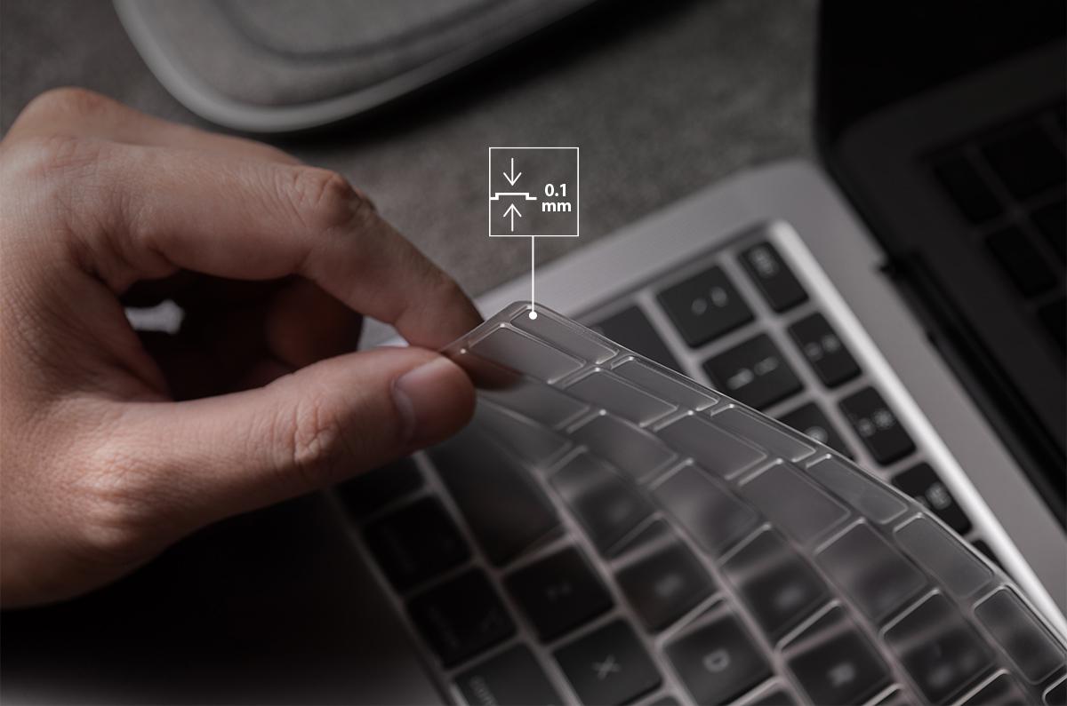 厚度只有 0.1 mm,為一般矽膠保護膜的五分之一。