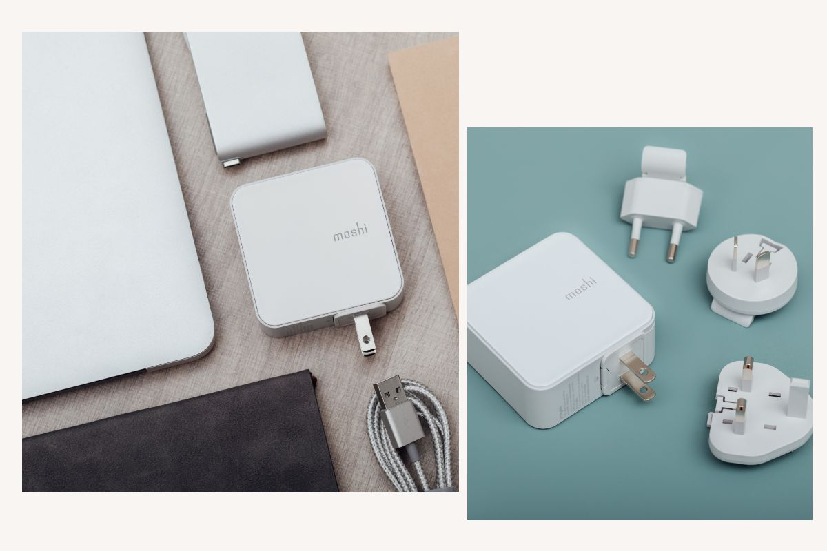 Simply slide the power plug off and replace with other regions when traveling (adapter pack sold separately).