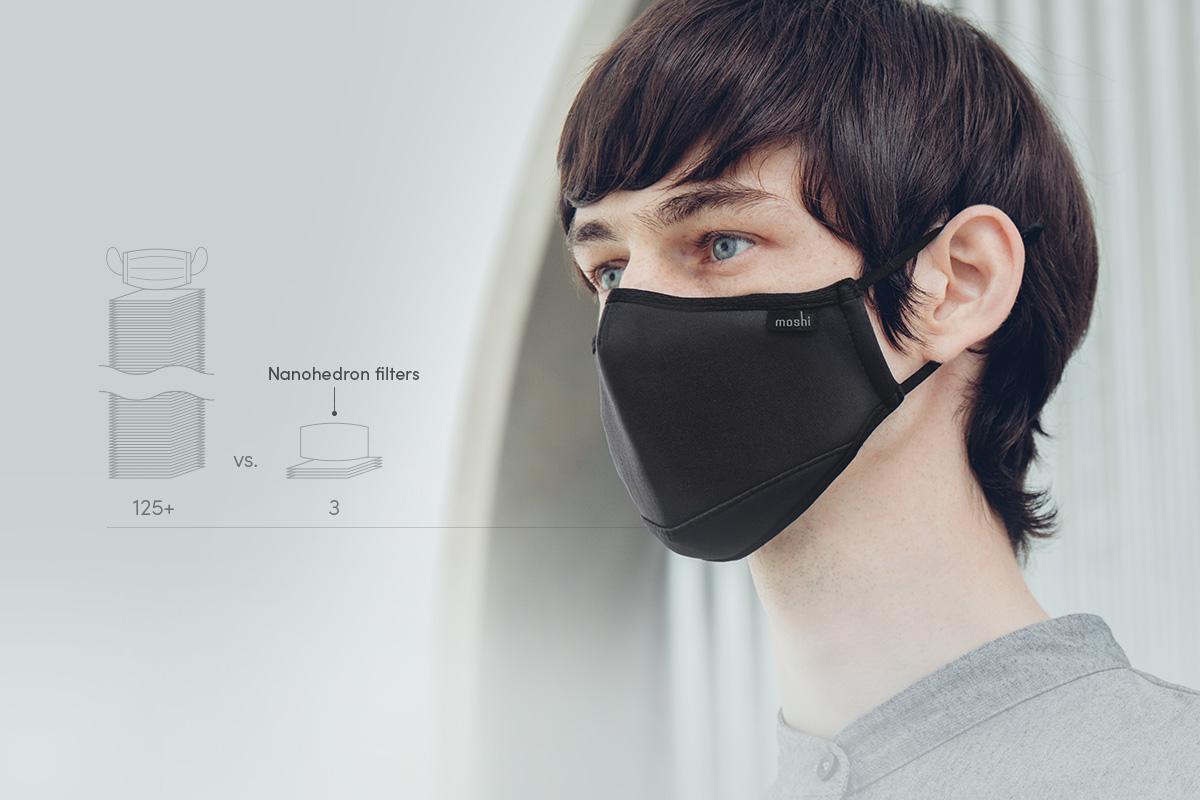 Bien qu'utiles, les masques jetables créent un surplus de déchets. Choisissez un masque réutilisable pour atténuer son impact sur l'environnement.