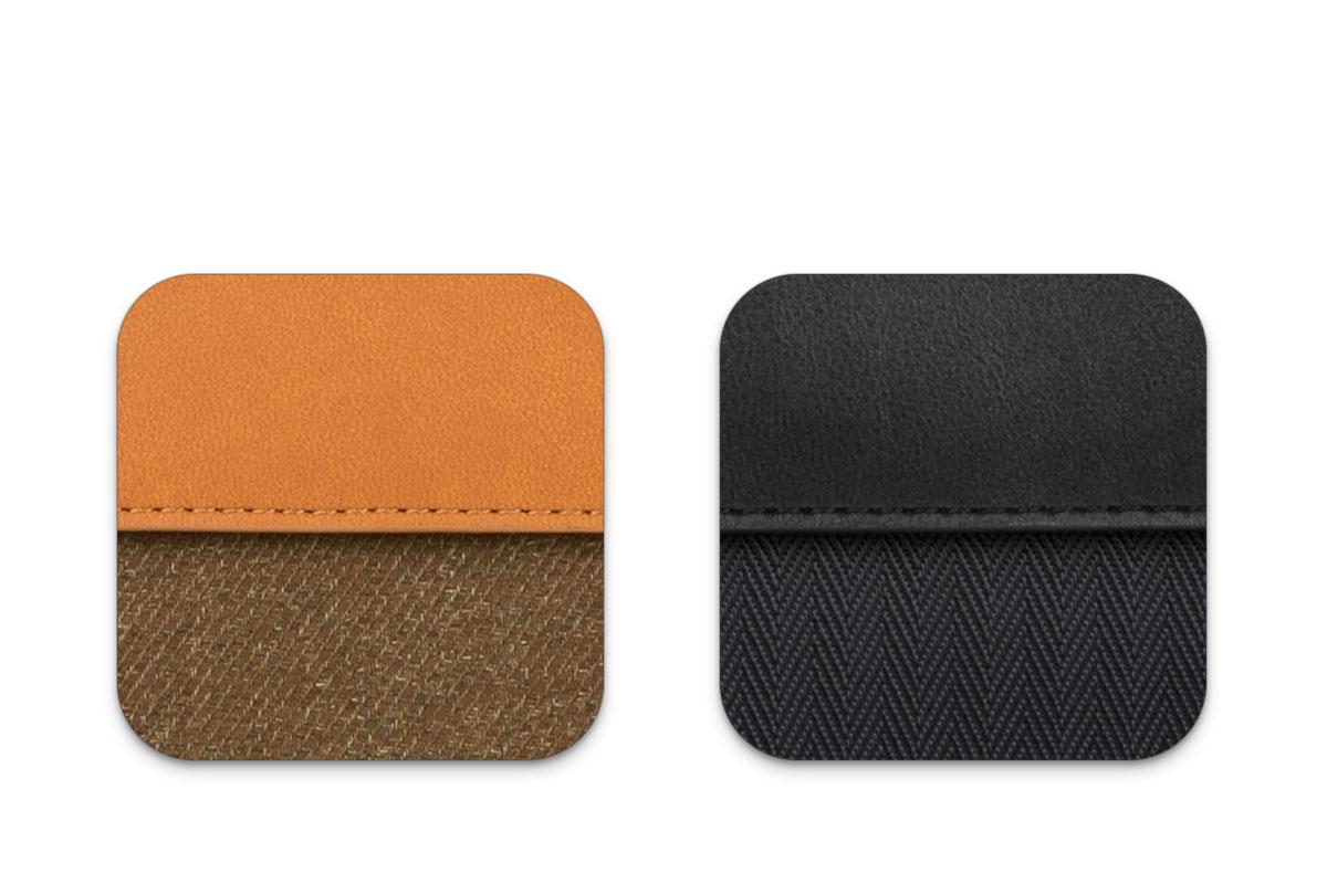 環境フレンドリーを目指し、プレミアムグレードの合成皮革を素材として制作しました。