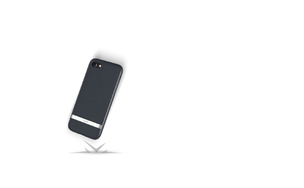 Vesta safeguards your iPhone from drops, scratches, and shocks.