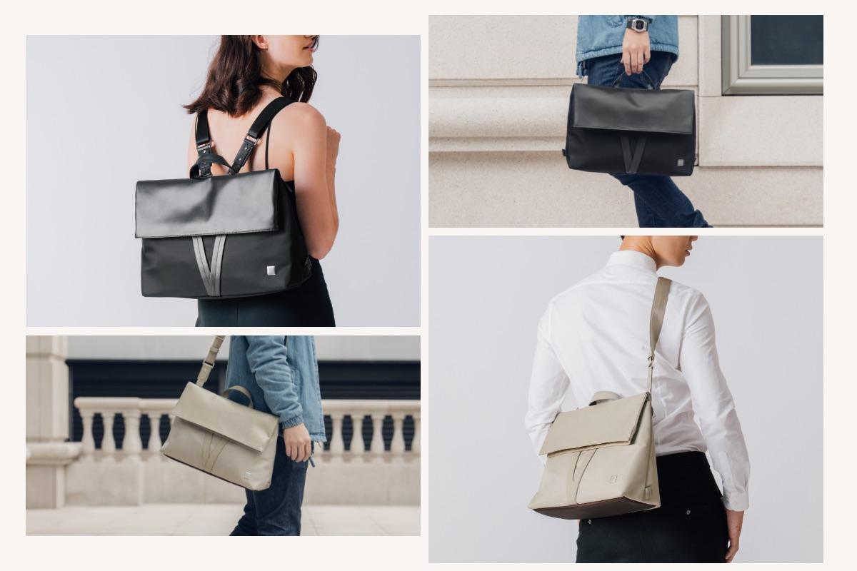 Vespo ist eine Schulter- oder Umhängetasche für den Pendelverkehr, ein moderner Rucksack für die Freisprecheinrichtung und eine Aktentasche für Besprechungen. Vespo wechselt mühelos den ganzen Tag über zu Ihnen und ist bereit für jede Reise, jeden Termin oder jedes Abenteuer.
