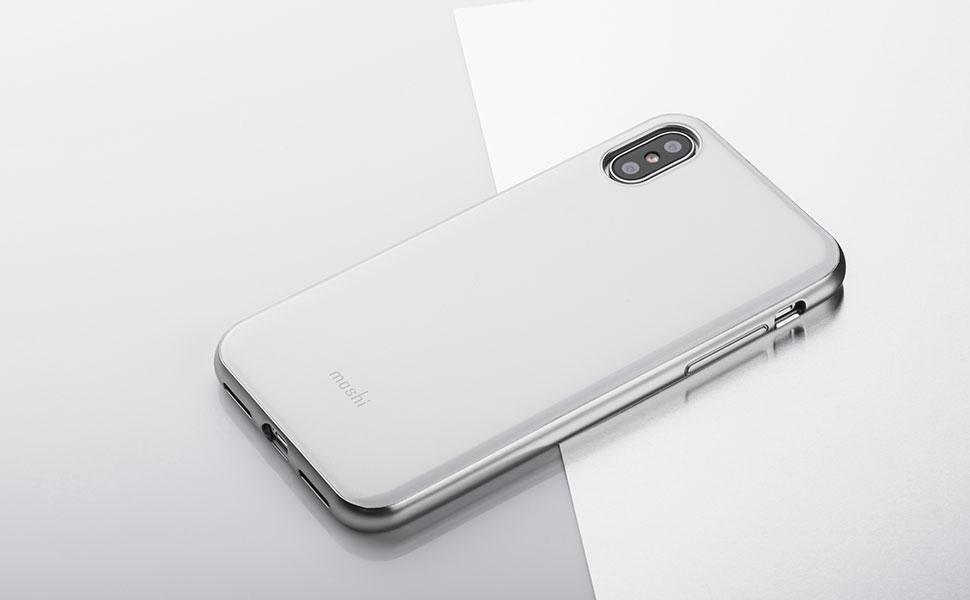 以優雅的類玻璃材質和精緻細膩的銀色金屬感邊框為特色。