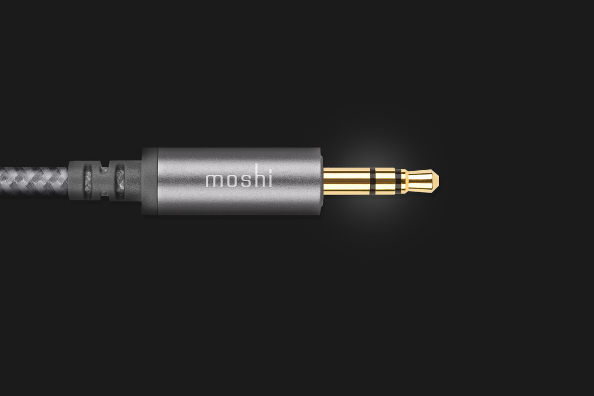 接頭採用24K鍍金材料製成,提供高品質無損音質。