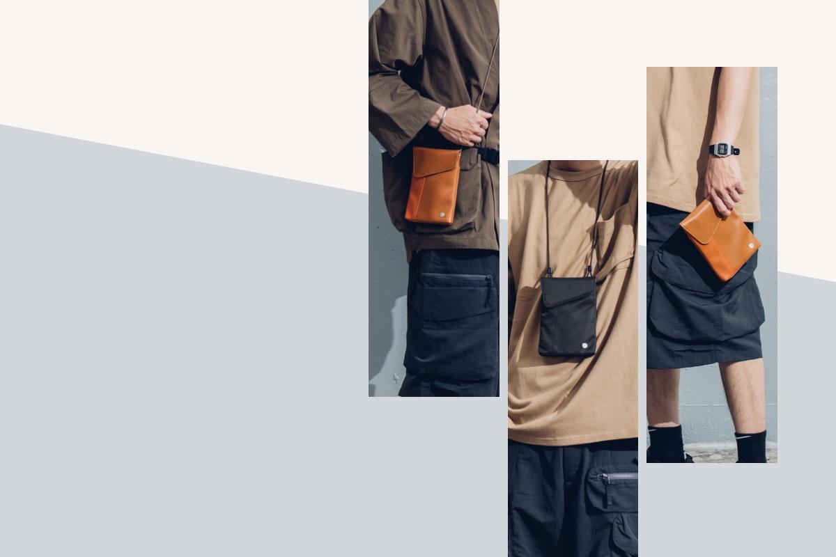 按照您喜歡的穿搭方式,肩背、斜肩背,或背在外套下。