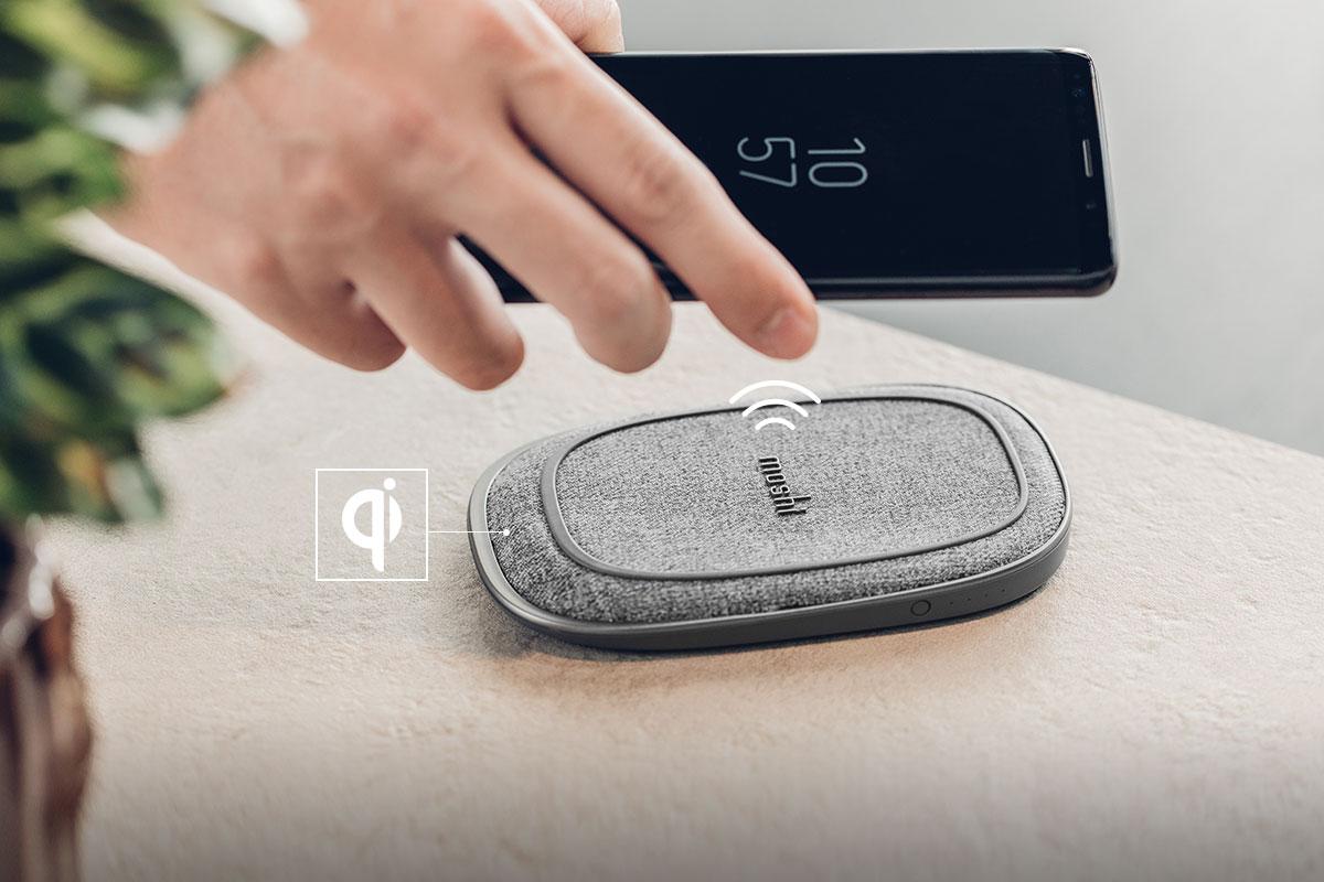 Аккумулятор Porto Q 5K сертифицирован по стандарту Qi и поддерживает большинство типов устройств.