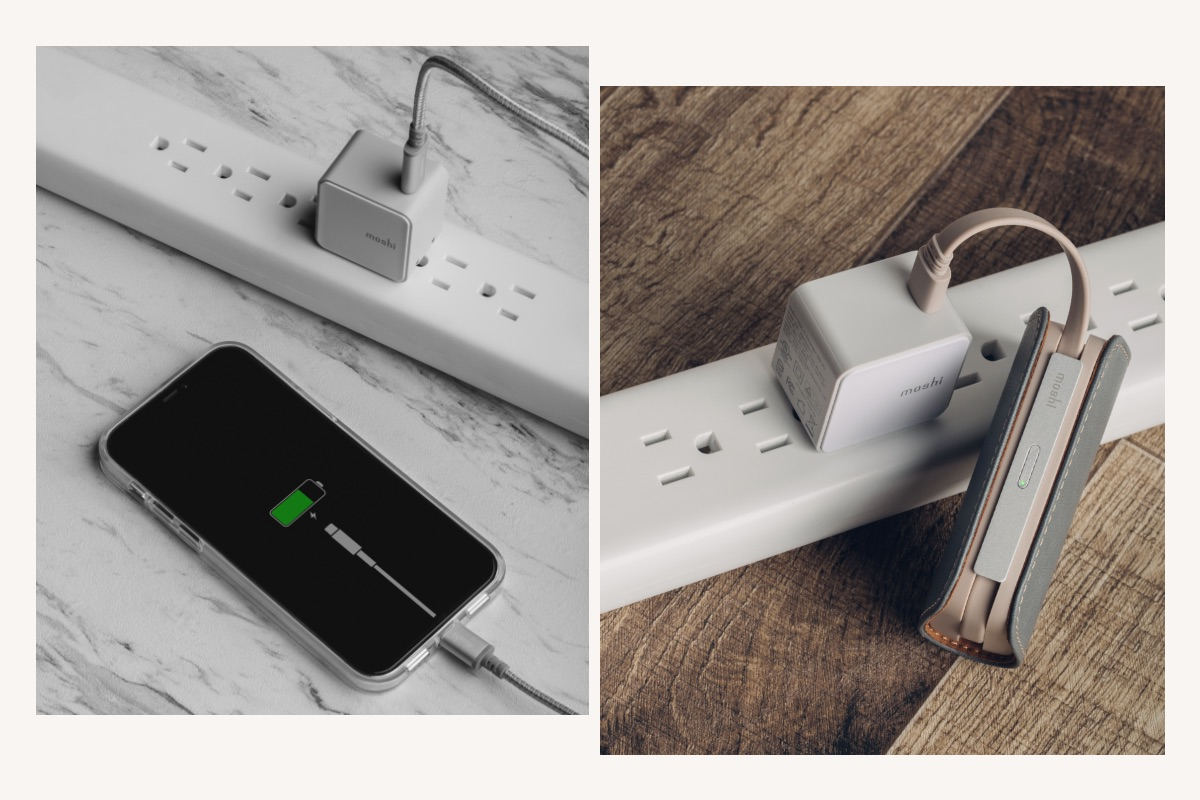 Qubit supports USB Power Delivery (PD) 3.0 with power output up to 20 W (maximum 12 V/1.67 A) for fast-charging of phones. Charge an iPhone 8 or later to 50% in around 30 minutes when using Qubit with an Apple USB-C to Lightning cable or a Pixel to 50% in around 30 minutes with a cable supporting USB-C PD. Qubit can also charge tablets including iPad Air (4th gen) and iPad Pro (3rd gen or later).