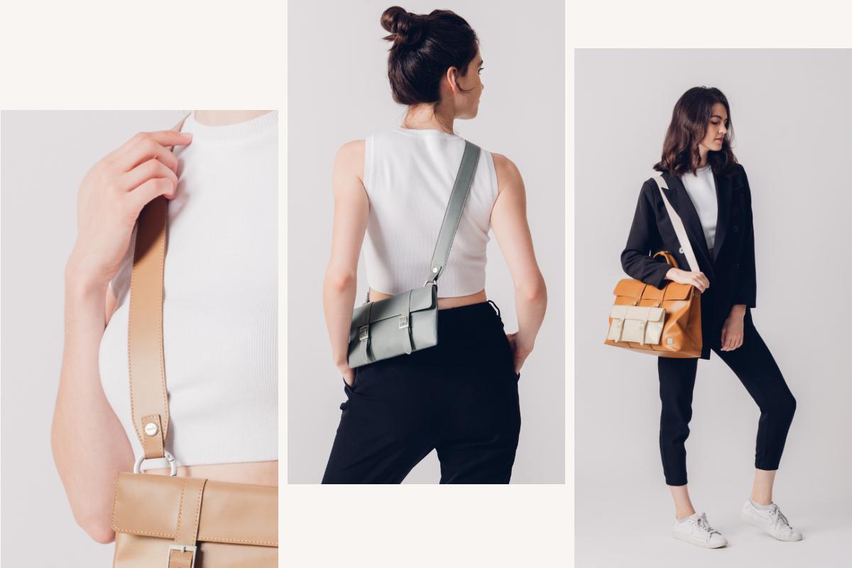 Passen Sie jede Treya-Tasche mit 7 Farben an Ihre Stimmung an und ergänzen Sie Funktionen.