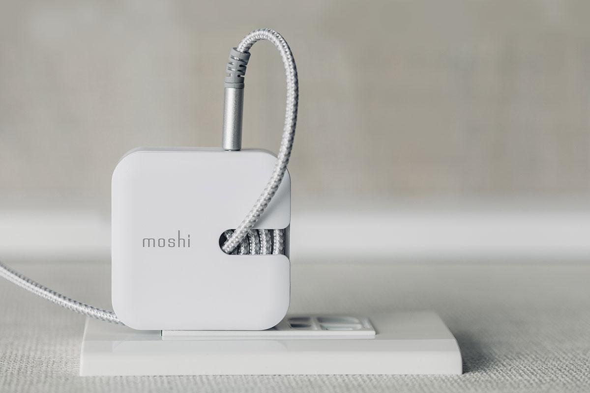 Eine eingebaute Kabelführungsnut lagert Ihr Kabel perfekt.