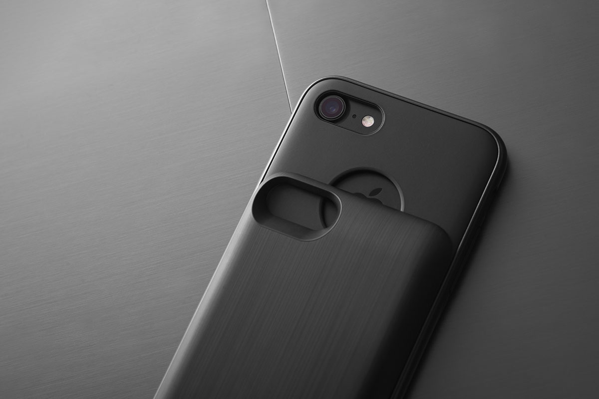 Two-piece slide-on battery pack design keeps your iPhone slim and compact.