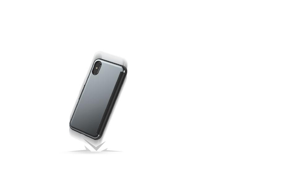 StealthCover protege su teléfono de caídas, rasguños y golpes.