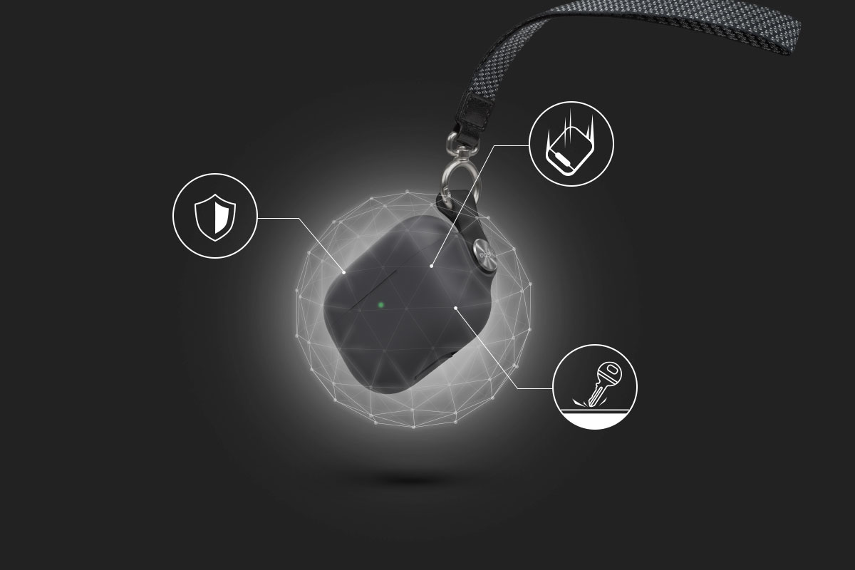 ソフトなカバーは衝撃や傷からケースを保護します。