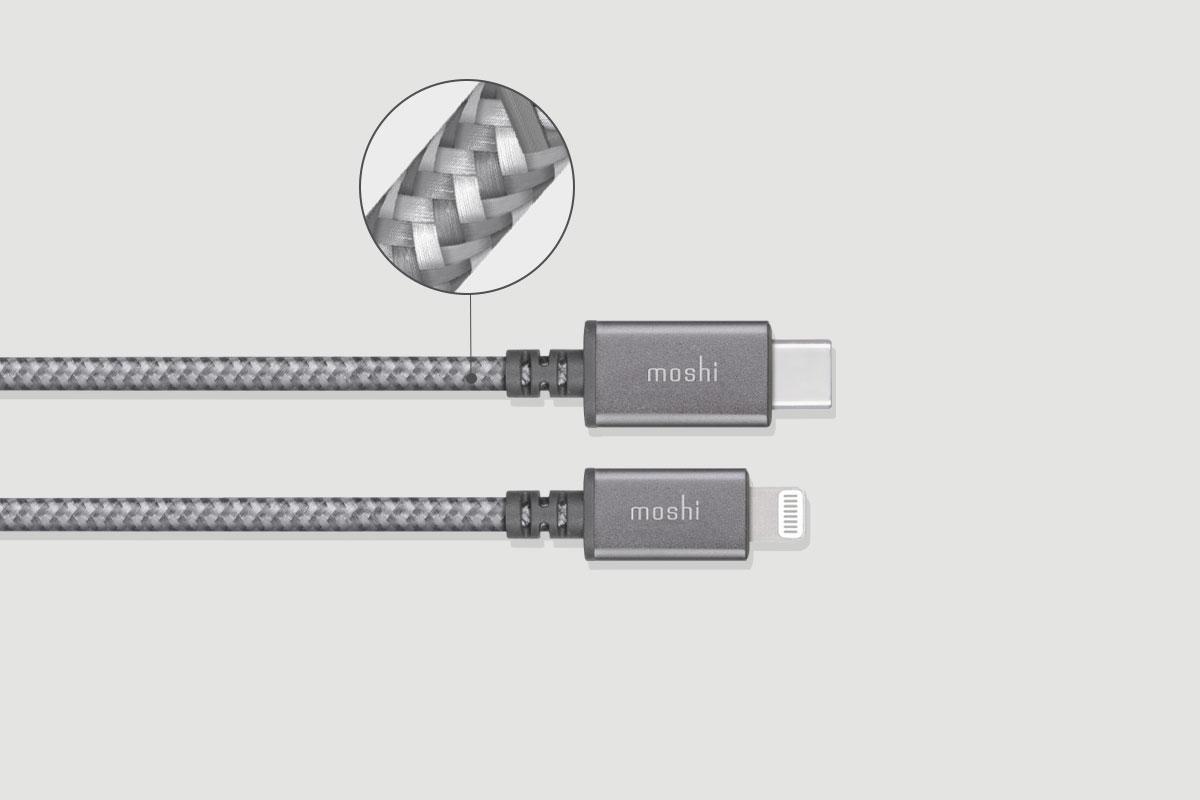 以高強度尼龍編織及鋁製外殼為特色,耐拔插施力點更延長Integra™編織線的使用壽命。