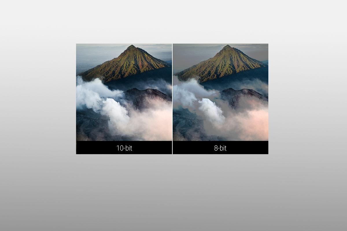 擺脫傳統 8-bit 的256色階,10-bit 的1024色階提供身歷其境的視覺體驗。產品提供 4:4:4 chroma色度抽樣,畫面清晰不失真。