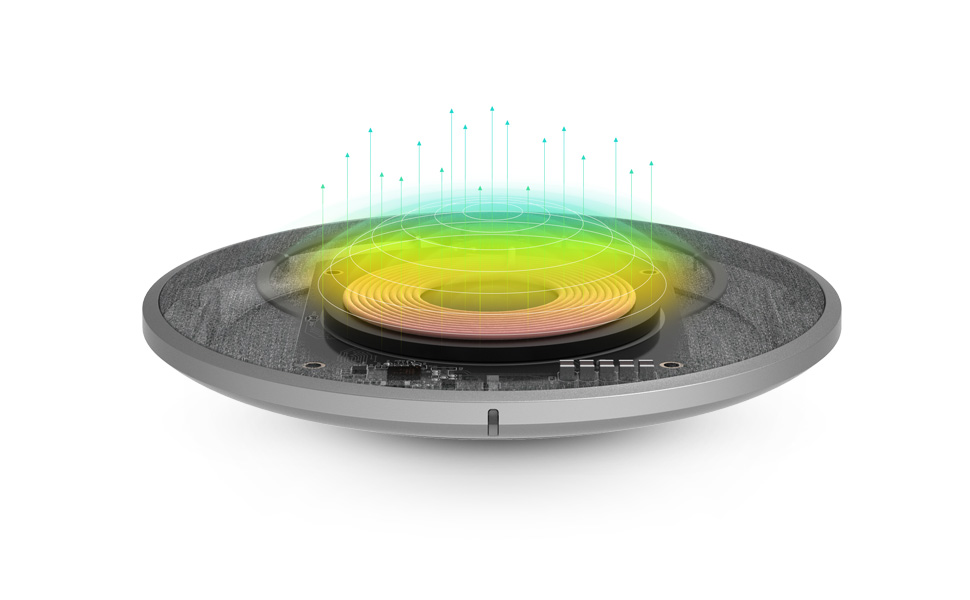 最佳散熱設計,免拆除保護殼充電 Moshi 獨家 Q-coil 線圈設計具有良好的被動式散熱設計,以提供最佳的充電效率,並可兼容厚達 5mm 保護殼,可免拆除保護殼進行充電。