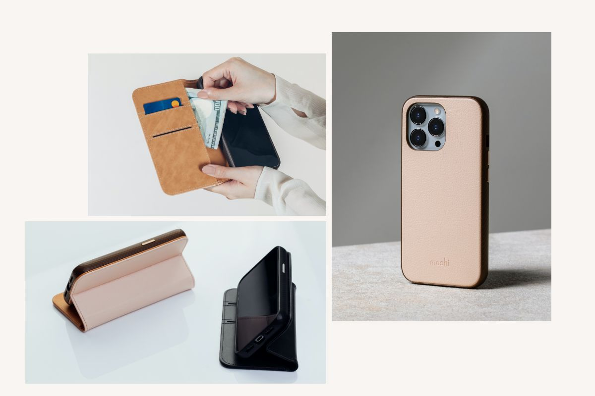 Overture is three products in one. The durable slim case protects your phone from drops and shocks, while the wallet features two cards slots and a full-legth pocket for cash and other items. A convenient folding stand mode also allows for watching of videos in landscape mode.