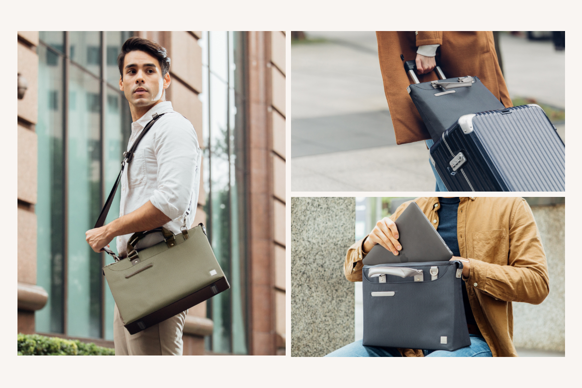 Perfect for the urban commuter going to work or meeting with clients, Urbana Lite carries your laptop, accessories, documents and more in style and comfort. When hitting the road, the rear zippered pocket transforms cleverly into a trolley sleeve to help you glide through the airport or hotel lobby.