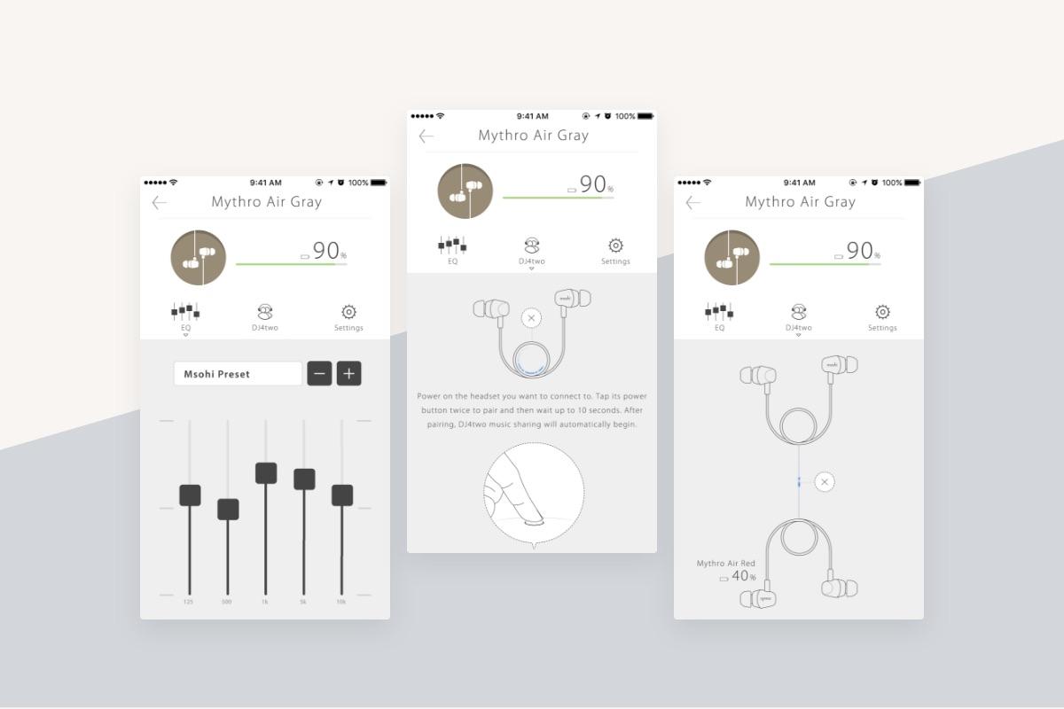 La aplicación de audio Bluetooth de Moshi funciona con los audífonos Bluetooth de Moshi. Permite a los usuarios aprovechar nuestra función de desarrollo propio DJ4two™, que permite a tus amigos escuchar la misma música que tu estás escuchando para que puedan disfrutar los desplazamientos breves y viajes que hagan juntos, de forma cómoda y sin cables. Compatible únicamente con los audífonos Moshi.  [App Store](https://apps.apple.com/us/app/moshi-bluetooth-audio/id1171356024) / [Google play](https://play.google.com/store/apps/details?id=com.moshi.audio)