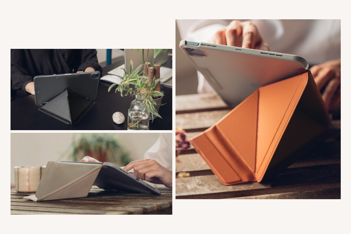 VersaCover's award-winning cover design displays your iPad at all the right angles for typing, reading, watching videos, and web browsing.