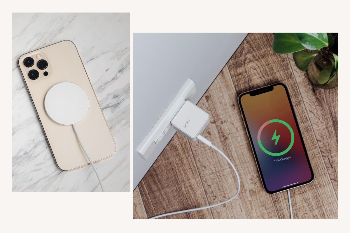 体验MagSafe 给iPhone无线充电的快捷。Qubit支持9 V/2.22 A USB-C PD规格,能够为MagSafe iPhone充电器提供最大15 W的无线充电输出。