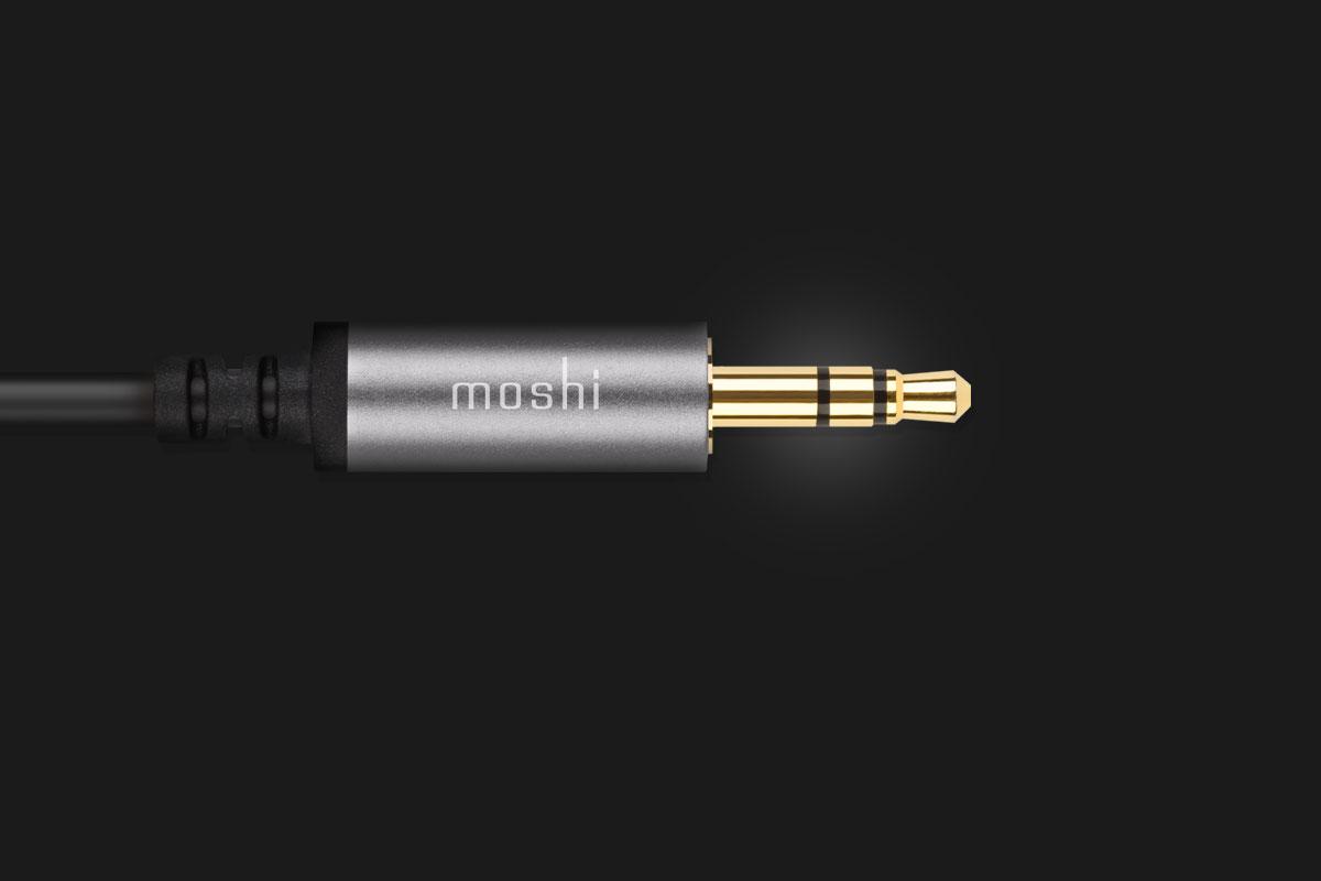 Der Stecker ist doppelt geschirmt und 24 Karat vergoldet, um eine störungsfreie und hochwertige Audioübertragung zu gewährleisten.