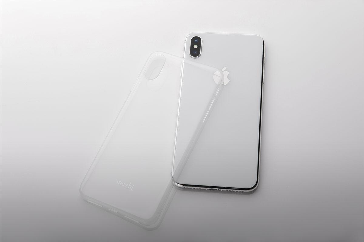 Un fond transparent souligne le design élégant de votre téléphone tout en laissant paraître le logo d'Apple.