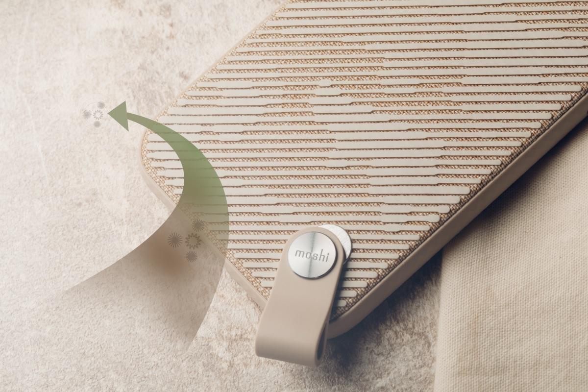 Moshi Altra 採 NanoShield™ 抗菌布料及防潑水材質製成,不僅優雅別緻,更能免於污染及氣候影響。