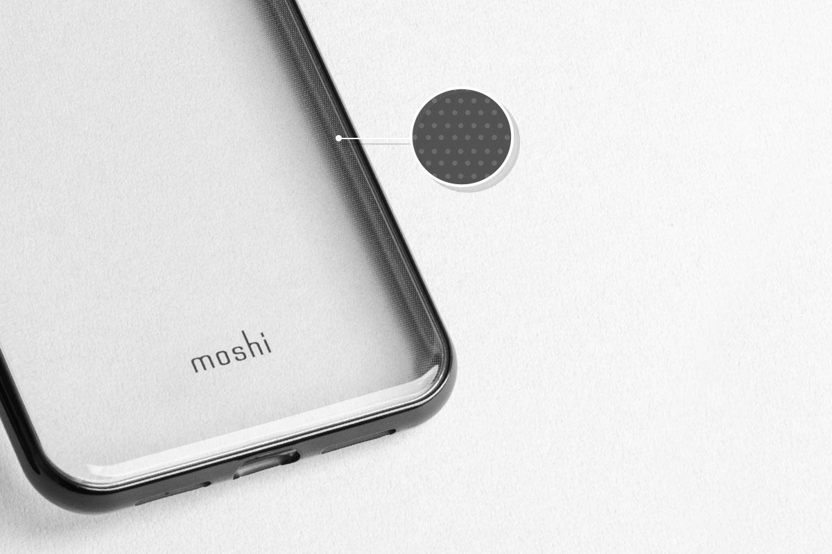 水滴を防ぎiPhoneのクリアケースに見られるにじみを減少させます。