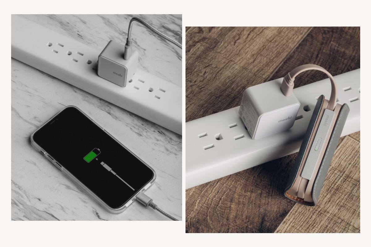Qubit unterstützt USB Power Delivery (PD) 3.0 mit einer Ausgangsleistung von bis zu 20 W (maximal 12 V/1,67 A) für das schnelle Aufladen von Telefonen. Laden Sie ein iPhone 8 oder neuer in etwa 30 Minuten auf 50 %, wenn Sie Qubit mit einem Apple USB-C-auf-Lightning-Kabel verwenden oder ein Pixel in etwa 30 Minuten auf 50 % mit einem Kabel, das USB-C PD unterstützt. Qubit kann auch Tablets aufladen, einschließlich iPad Air (4. Generation) und iPad Pro (3. Generation oder später).