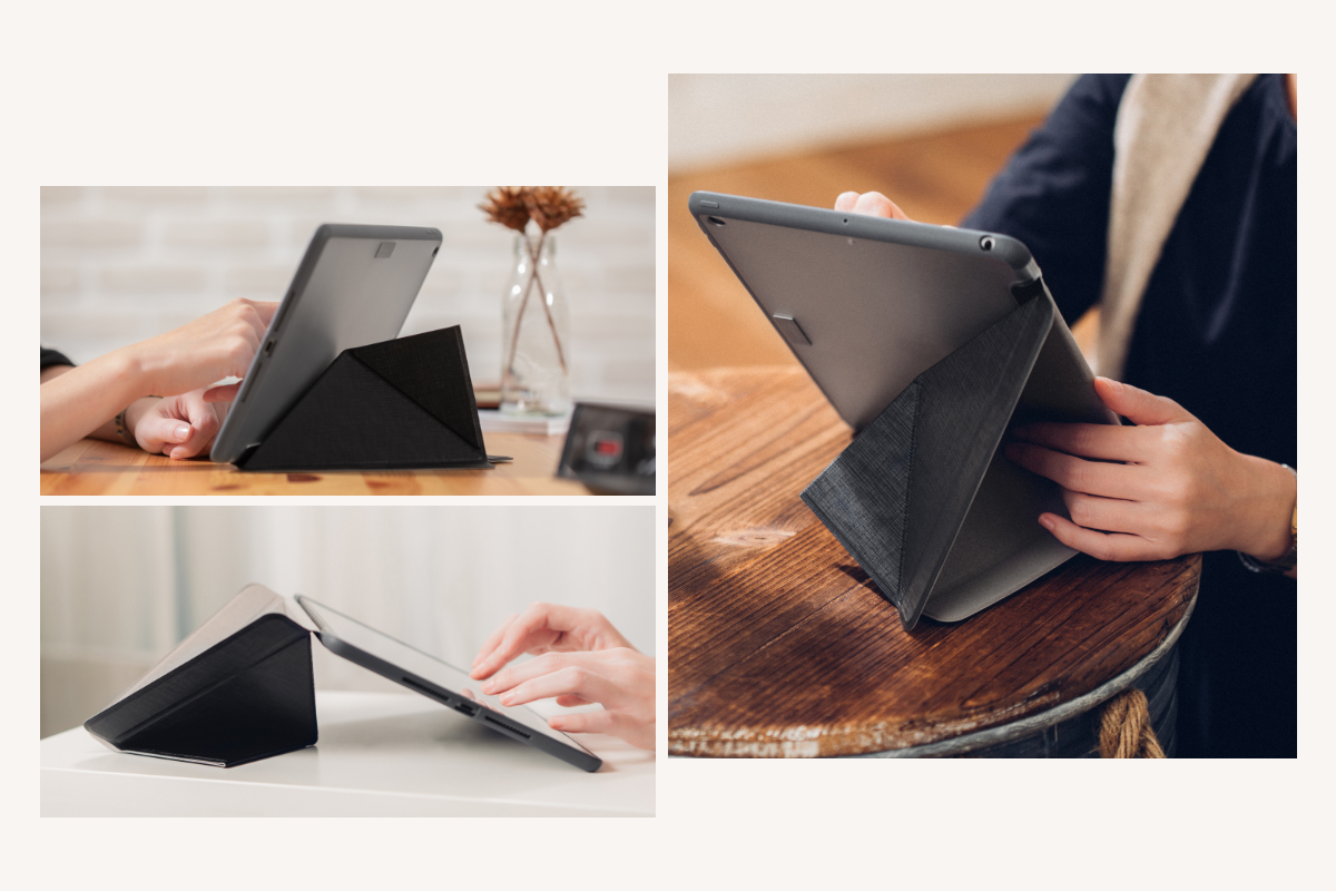 VersaCover's award-winning cover design displays your iPad at all the right angles for typing, reading, and browsing the web. Be productive when working on the go or simply sit back and relax with a video or e-book.