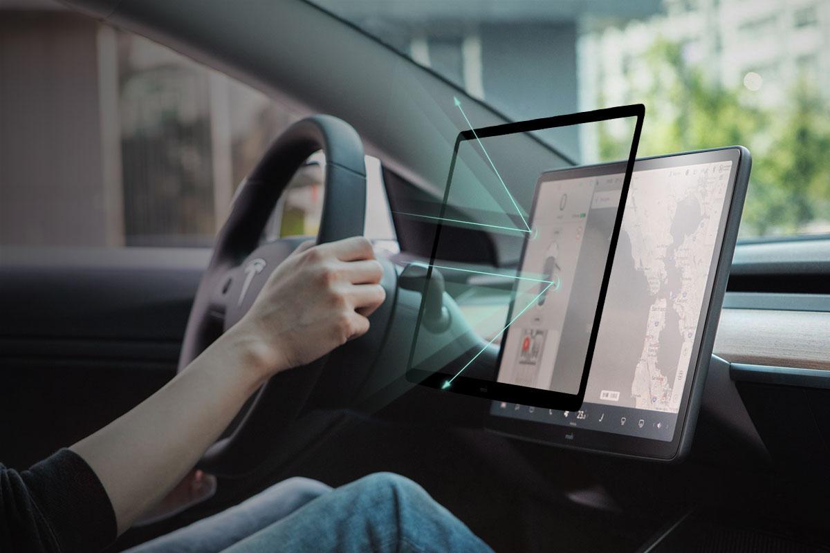 Durch das mehrschichtige Design bietet iVisor unglaubliche Klarheit und reduziert gleichzeitig die Blendung, um eine reibungslose Navigation zu gewährleisten.