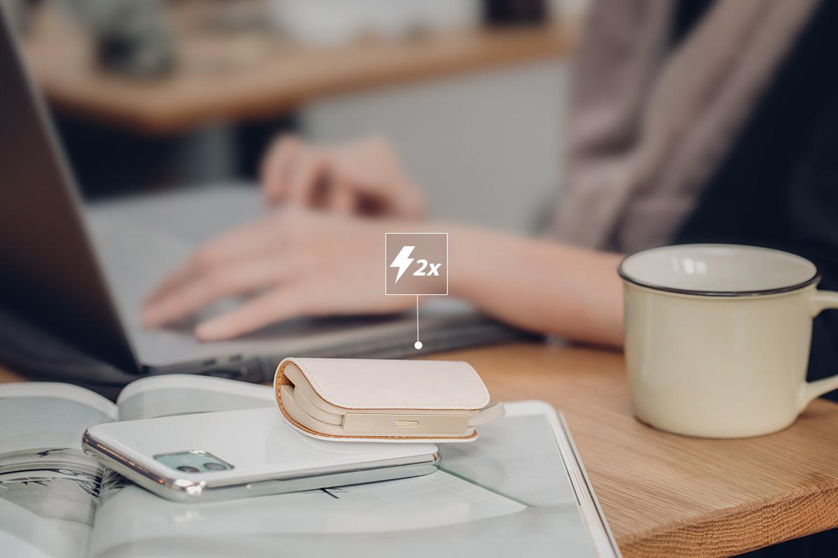 Mit dem IonGo 5K haben Sie eine um 100% längere Akkulaufzeit für Ihr iPhone. So bleiben Sie den ganzen Tag über produktiv und verbunden.