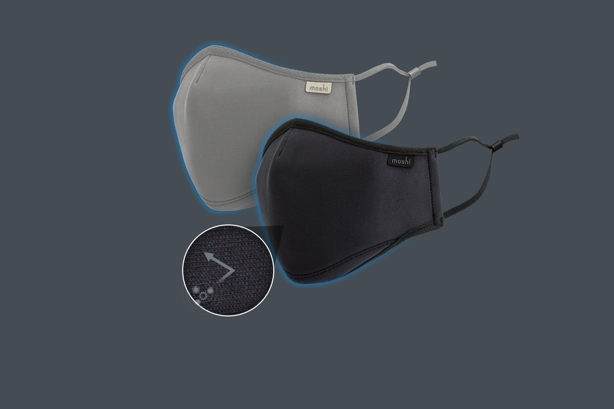 Le masque est doté d'un revêtement antimicrobien de longue durée (NanoShield™) qui inhibe la croissance des microbes pour un nettoyage et une hygiène supérieurs.