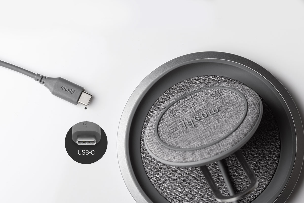 An integrated 4-foot (1.2 m) cable makes Lounge Q the perfect charger for any stylish desktop, nightstand, or workstation.