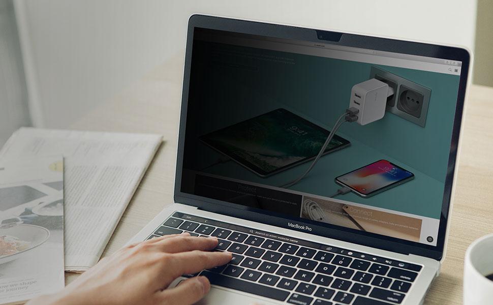 La protection de confidentialité d'écran ultime qui vous apporte la sécurité sans réduire la visibilité.