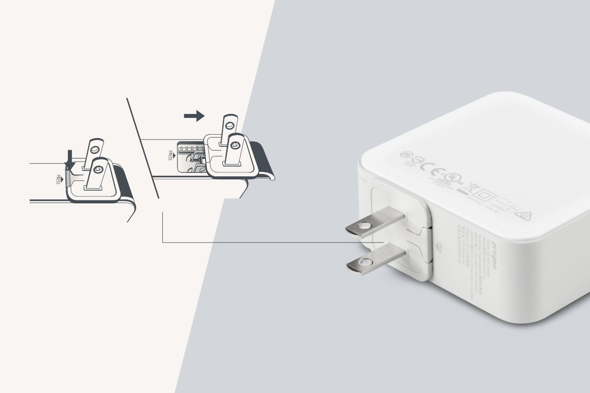 Convert your ProGeo's region in no time by simply sliding the power plugs off and on.