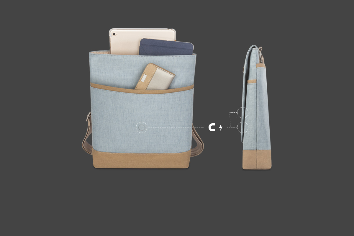 Avec un aimant supplémentaire pour que le sac reste fermé, même lorsqu'il est chargé de matériel supplémentaire.