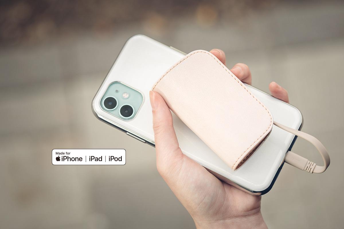 認証済みのため安全にiPhone、iPadまたはライトニングポート付のその他のデバイスを充電できます。