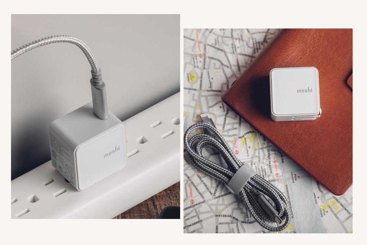 Mit einer Breite von nur 29,9 mm blockiert Qubit keine benachbarten Steckdosen oder stört andere Netzteile an einer Mehrfachsteckdose. Wenn Sie unterwegs sind, lässt sich Qubit leicht in einer Tasche oder Handtasche verstauen und findet sogar in Ihrer Hosentasche Platz.
